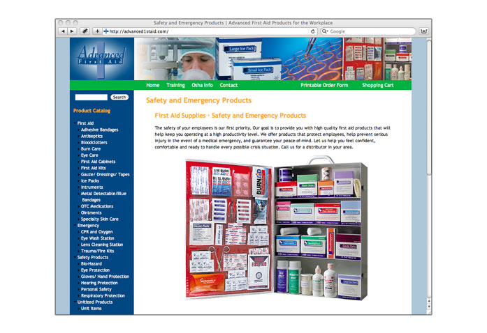 Visit Advanced First Aid: - First aid supplies & safety and emergency products.
