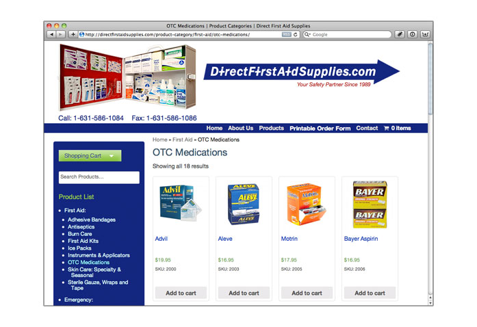 Visit Direct First Aid Supplies: - First Aid, emergency, and safety products for businesses and manufacturers.