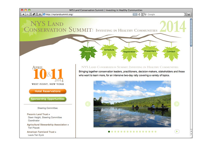 New York State Land Conservation Summit 2014: - Website for the 2014 summit.
