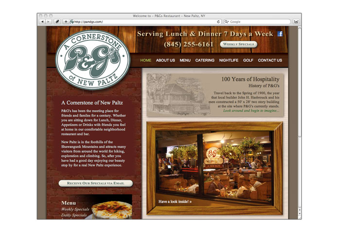 Visit P & G's Restaurant: - A cornerstone of New Paltz, New York for over 100 years.